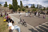 Basketball Game at Mauerpark Berlin — Stock Photo