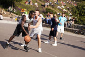 Street Basketball Intense Battle — Stock Photo