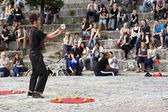 Street Performer at Mauerpark Amphitheater — Stock Photo