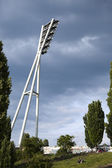 Mauerpark Stadium Lighting Tower and Hill Berlin Germany — Stock Photo