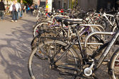 Parked Bicycles at Alexanderplatz — Stock Photo