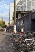 Parked Bicycles at Alexanderplatz — Stock Photo