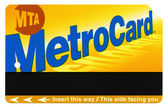 Isolated New-York MTA Metro Card — Stock Photo