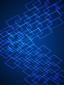 Virtual Technology Vector Background — Stock Vector