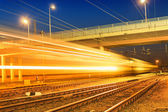 Night express train — Stock Photo