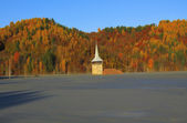 Flooded church in Rosia Montana — Stock Photo