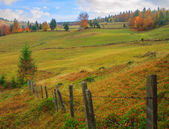 Typical Transylvanian landscape in autumn — Stock Photo
