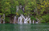 Waterfall in the Plitvice Lakes — Stock Photo