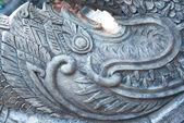 Cement stutue van draak in tempel — Stockfoto