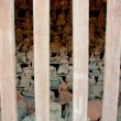 Old buddhin wooden cage protect from thief — Stock Photo #27432913