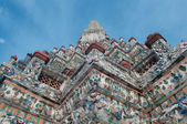 Stupa of Wat Arun temple in Thailand — Stock Photo