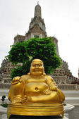 Smiling Golden Buddha Statue — Stock Photo