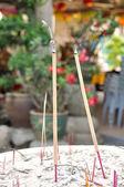 Closed up burning incense — Stockfoto
