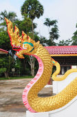 Thai Dragon or Naka at Temple — Stock Photo