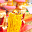 Candle in Thailand temple — Stock Photo