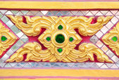 Pattern texture style in temple of Thailand — Stock Photo
