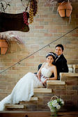 Asian wedding couple show concept of love — ストック写真