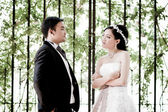 Wedding couple show concept of love — ストック写真