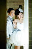 Wedding couple show concept of love — Foto de Stock