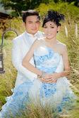 Wedding couple show concept of love — Stock Photo
