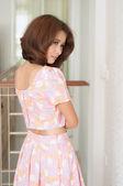 Beautiful asian girl show fashion concept — Stock Photo
