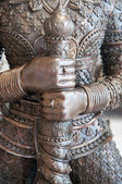 Closed up statue of giant guardian in Thailand — Stock Photo