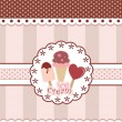 Sweet Card Design With Ice Cream  — Image vectorielle