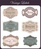 Vintage Labels Set — Stock Vector