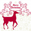 Merry Christmas card — Stockvectorbeeld