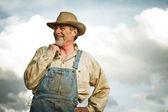 Farmer smiling — Stock Photo
