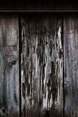 The old wood fence in old Montreal with rusty metal. — Stock Photo