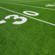 Thirty yard line - football with natural lighting - Stock Photo