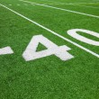 Forty yard line - football with natural lighting — Stock Photo