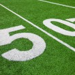 Royalty-Free Stock Photo: Fifty yard line - football with natural lighting