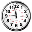 Clocks show - just before twelve — Stock Photo