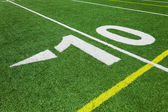 Ten yard line - football with natural lighting — Stock Photo