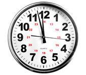 Clocks show - just before twelve — Stock Photo