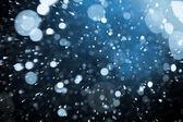 Magic snowstorm bokeh — Stock Photo
