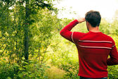 Young man in nature — Stock Photo