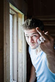 Young man frustrated — Stock Photo