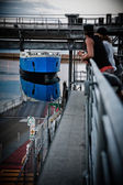 A ship in port — Stock Photo