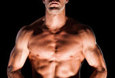 Muscular man's chest — Stock Photo