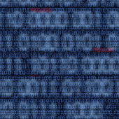 Binary codes with hacked password — Stock Photo