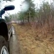 Car suspension dirt road — Stock Video