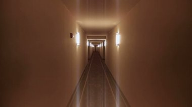 Long Corridor — Stockvideo