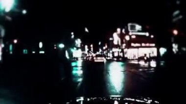 Dark Streets Montreal NightLife Timelapse — Video Stock