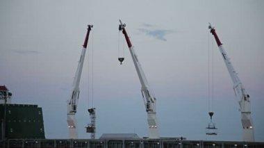 Cargo Cranes — Stock Video