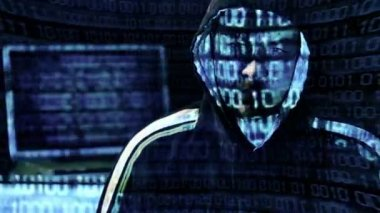 Hacker Portrait — Vídeo Stock