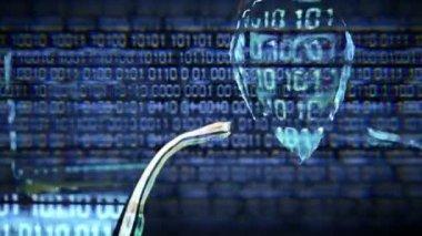 Hacker Portrait — Stock Video