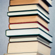 Stock Photo: High stack of books